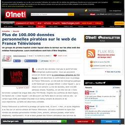 Plus de 100.000 données personnelles piratées sur le web de France Télévisions