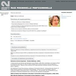 Pages personnelles Université Rennes 2
