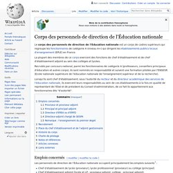 Corps des personnels de direction de l'Éducation nationale