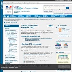 Travaux Personnels Encadrés (TPE) — Documentation (CDI)