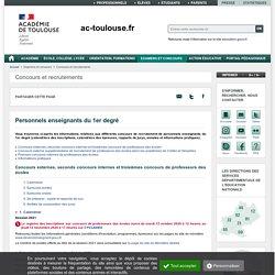 Site de l'académie de Toulouse dédié au CRPE