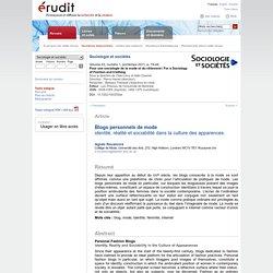 Sociologie et sociétés v43 n1 2011, p.19-44