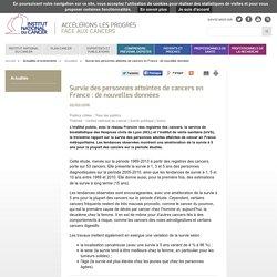 Survie des personnes atteintes de cancers en France : de nouvelles données - Actualités