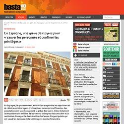 En Espagne, une grève des loyers pour « sauver les personnes et confiner les privilèges