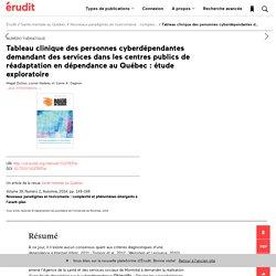 Tableau clinique des personnes cyberdépendantes d… – Santé mentale au Québec – Érudit