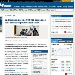 En trois ans, près de 900.000 personnes sont devenues pauvres en France