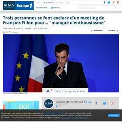 """Trois personnes se font exclure d'un meeting de François Fillon pour… """"manque d'enthousiasme"""""""