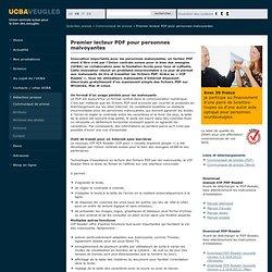 Premier lecteur PDF pour personnes malvoyantes: Union centrale suisse pour le bien des aveugles UCBA