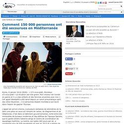Comment 150 000 personnes ont été secourues en Méditerranée