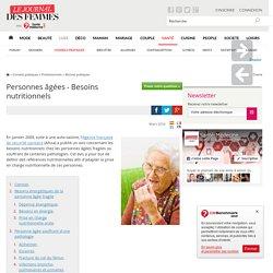 Personnes âgées - Besoins nutritionnels