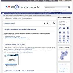 Les personnes-ressources dans l'académie - ac-bordeaux.fr
