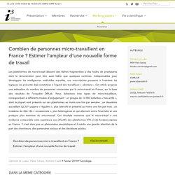 Combien de personnes micro-travaillent en France ?