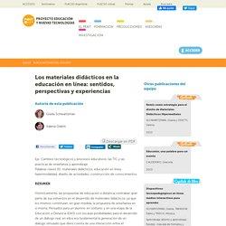 Los materiales didácticos en la educación en línea: sentidos, perspectivas y experiencias