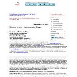 Estudios y perspectivas en turismo - El turismo de salud y el uso terapéutico del agua