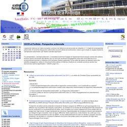 CECR et Portfolio - Perspective actionnelle