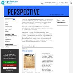 Perspective l INHA - Actualité en histoire de l'art