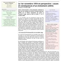 Le 1er novembre 1954 en perspective : causes et conséquences d'un événement (2004)