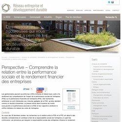Comprendre la relation entre la performance sociale et le rendement financier des entreprises