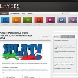 Create Perspective Using Simple 2D Art with Illustrator CS4 | Layers Magazine
