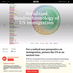 For a radical new perspective on immigration, picture the US as an ancient tree