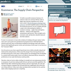 Ecommerce: The Supply Chain Perspective