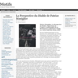 La Perspective du Diable de Patrice Maniglier | Motifs