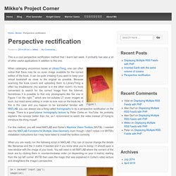 Perspective rectification – Mikko's Project Corner