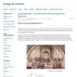La perspective : une invention de la Renaissance italienne