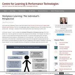 Workplace Learning: The Individual's Perspective