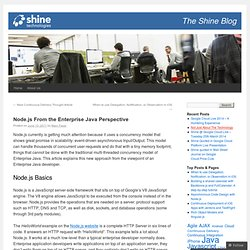 Node.js From the Enterprise Java Perspective | Shine Technologies Blog