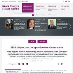 Bioéthique, une perspective transhumaniste