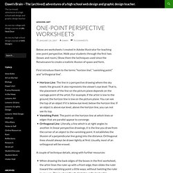 Dawn's Brain – The adventures of a high school web design and graphic design teacher. » Blog Archive » One-point perspective worksheets