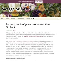 Perspectives: An Open Access Intro Anthro Textbook