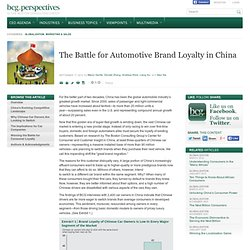 The Battle for Automotive Brand Loyalty in China