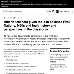 Alberta teachers given tools to advance First Nations, Métis and Inuit history and perspectives in the classroom