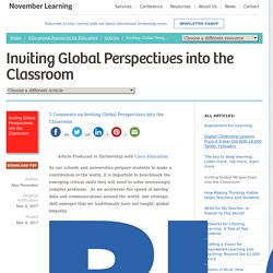Article: Inviting Global Perspectives into the Classroom