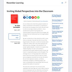 Inviting Global Perspectives into the Classroom - November Learning