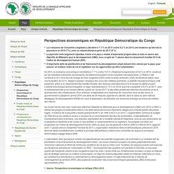 Perspectives économiques en République Démocratique du Congo - Banque africaine de développement