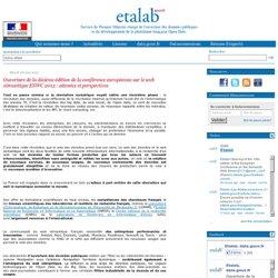 Ouverture de la dixième édition de la conférence européenne sur le web sémantique ESWC 2013 : attentes et perspectives