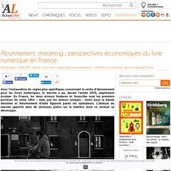Abonnement, streaming : perspectives économiques du livre numérique en France
