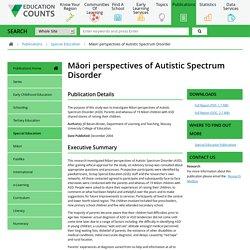 Māori perspectives of Autistic Spectrum Disorder