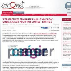 """""""Perspectives féministes sur le VIH/sida"""" : quels enjeux pour nos luttes - Partie 1"""