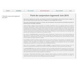 Conjoncture & Perspectives Immobilières