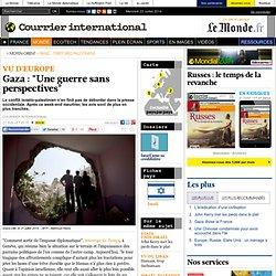 """2014 Gaza: """"Une guerre sans perspectives"""""""