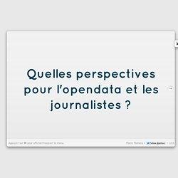 Quelles perspectives pour l'opendata et les journalistes ? - Pierre Romera