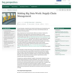 3 ways big data can improve your supply chain