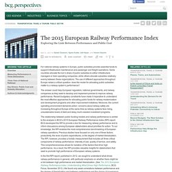 The 2015 European Railway Performance Index