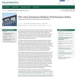 The 2015 European Railway Performance Index
