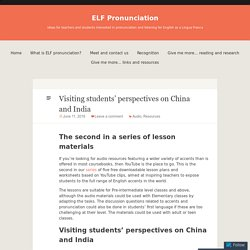 Visiting students' perspectives on China and India