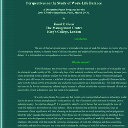 work life balance thesis statement Work life balance and job satisfaction among faculty at iowa state university statement of the work-life balance satisfaction which in turn influences their.